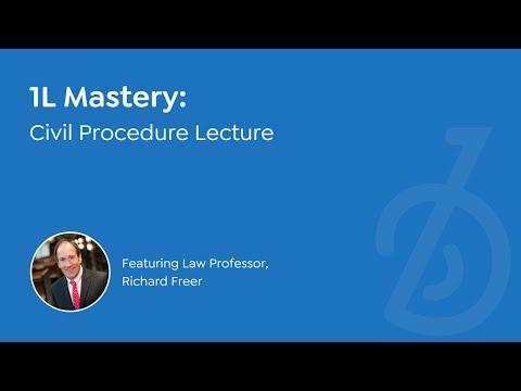BARBRI 1L Mastery | Civil Procedure lecture by Professor Richard Freer