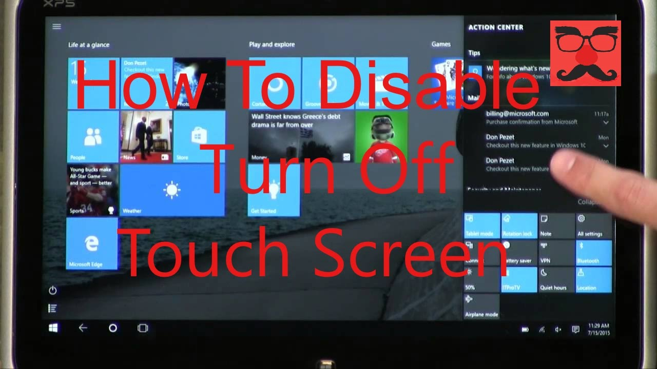 How to TURN OFF / DISABLE Touch Screen in Windows 10