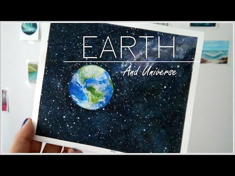 Planeta Tierra ACUARELA (EARTH WATERCOLOR) ✿