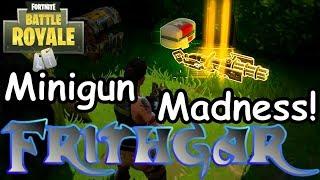 Let's Play Fortnite Battle Royale #15: Minigun Madness!