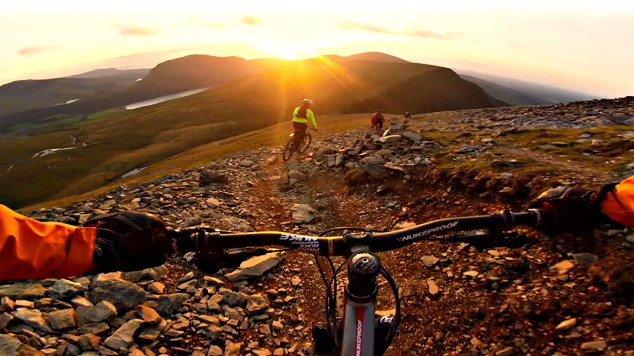 Full Hd Wallpaper For Laptop Snowdon Ranger Path Mountain Bike Sunset Descent Gopro