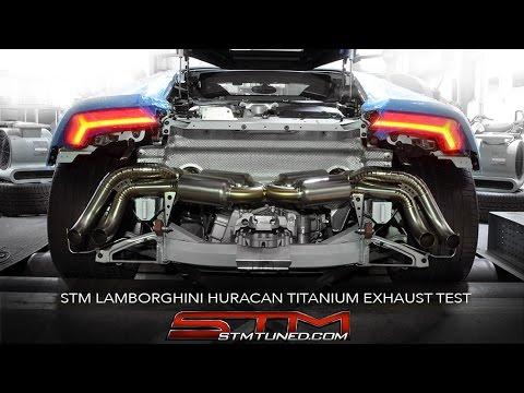 stm lamborghini huracan titanium exhaust test - youtube