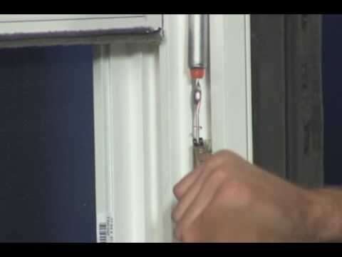 Watch on aluminum sliding window