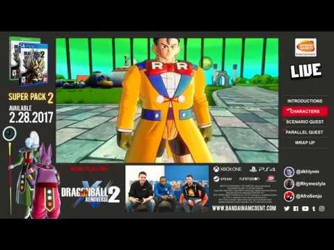 Dragon Ball XENOVERSE 2 DB Super Pack 2 Livestream | PS4, X1, Steam