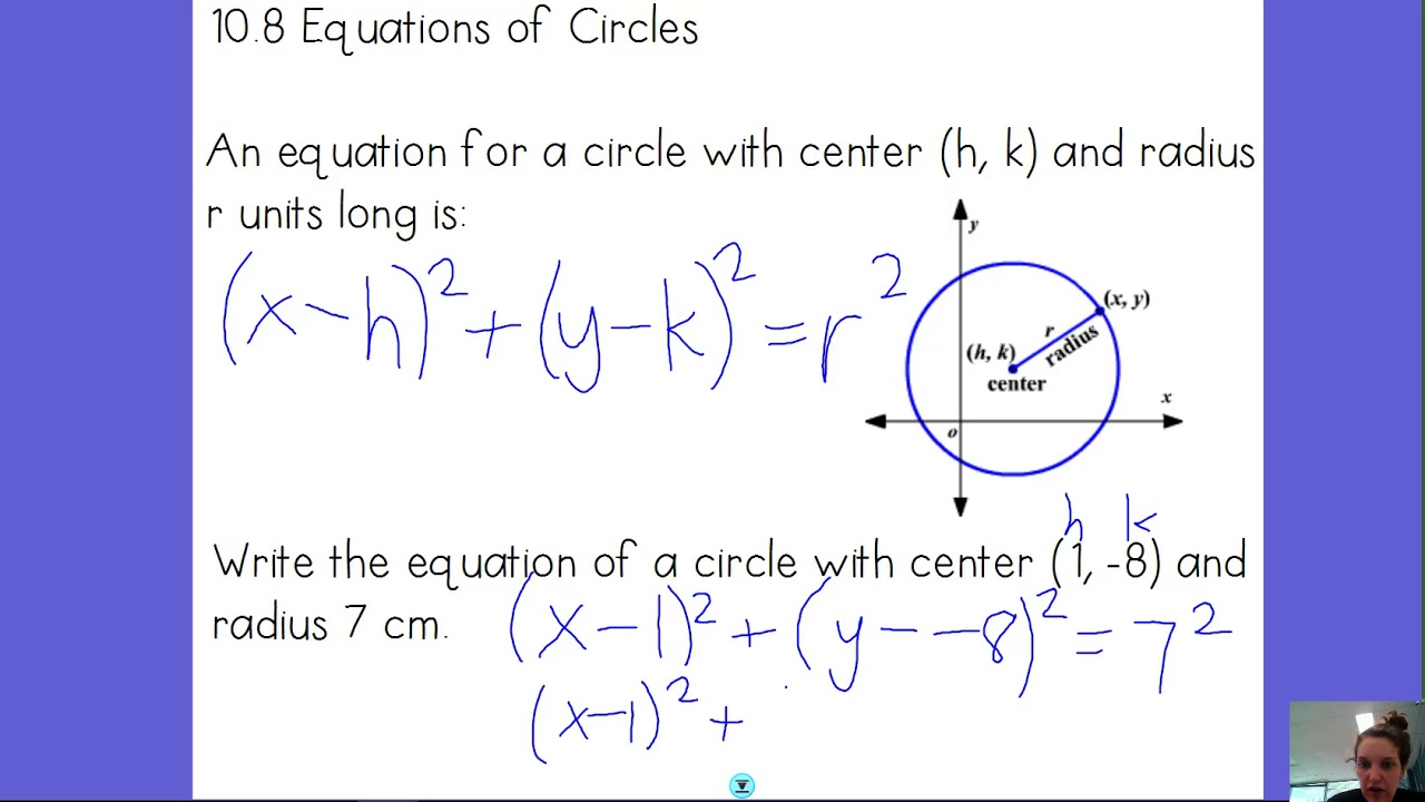 10.8 Equation Of Circle - Standard Form - YouTube