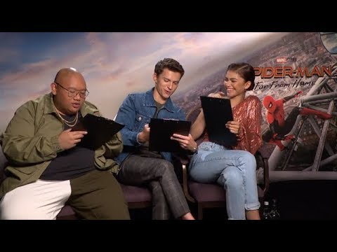 Tom Holland, Zendaya And Jacob Batalon Draw Each Other | Cineworld Interview