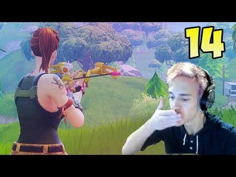 NINJA REACTS on Crossbow, FortNite Epic & Funny Moments #14, FortNite Funny Fails & WTF Moments