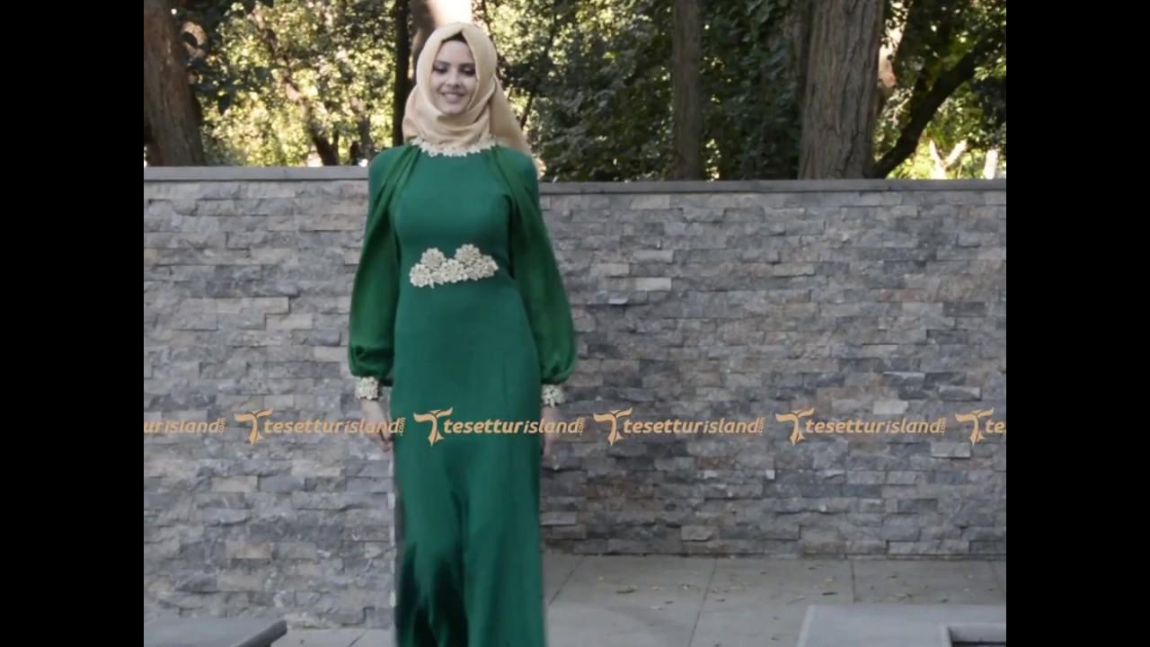 953bc95b0256b Tesetturisland | Tesettürlü Abiye Elbiseler - Balık Modeli Tesettürlü Elbise