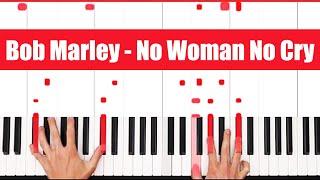 No Woman No Cry Bob Marley Piano Tutorial - EASY