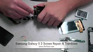 samsung galaxy s 2 i9100 screen repair teardown