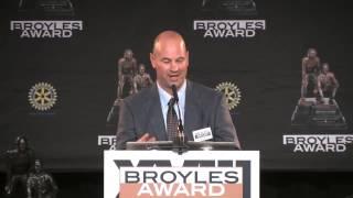 Jeremy Pruitt, Florida State, Speech at the 2013 Broyles Award