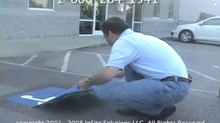 How To Install ADA Handicap Parking Pavement Signs