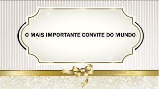 O mais importante convite do mundo (Mateus 11:28-30 ) | Presb. Wellington Correia | 26/07/2020