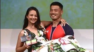 山田章仁選手、妻ローラさんをお姫様抱っこ キットカット ショコラトリー新商品イベント