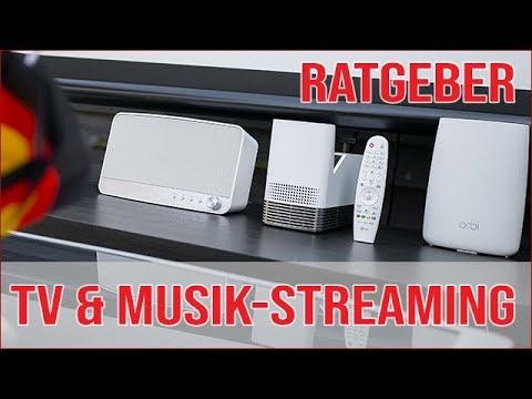 Musik & TV Streaming im Garten (LG HF85J Allegro)