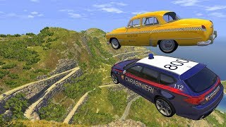 Crazy Vehicle High Speed Jump Crashes From BIG Mountain in italy - BeamNG drive Jumps