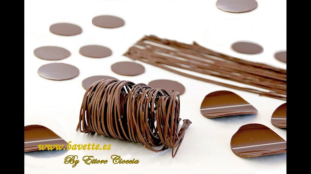 Atemperado del chocolate y decoraciones youtube - Decoracion con chocolate ...