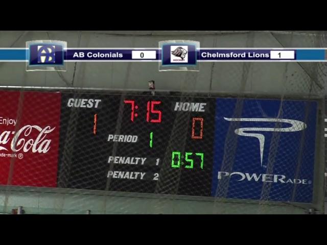 Acton Boxborough Varsity Boys Hockey Vs Chelmsford 1/8/14