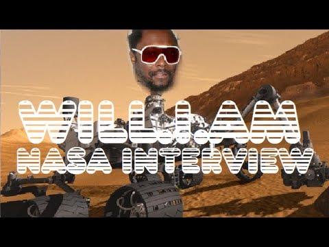 Will.I.Am NASA Interview at Curiosity Mars Landing 2012
