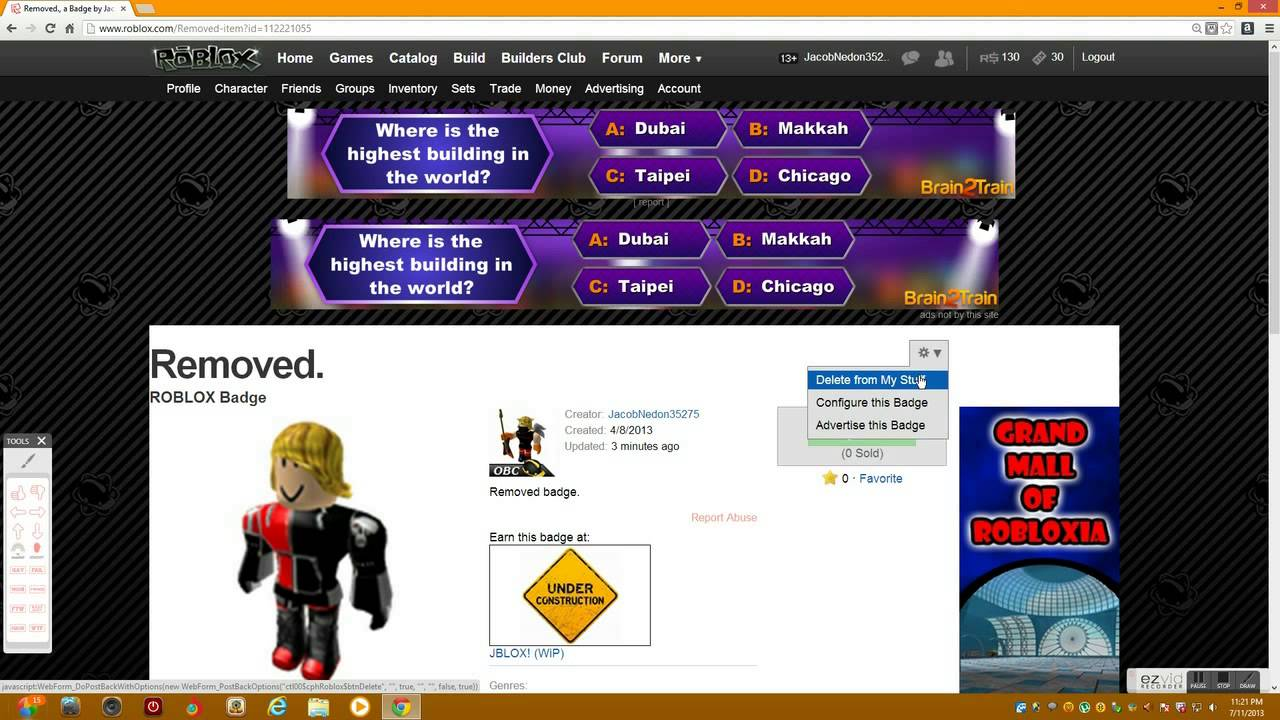 Roblox Tutorial How To Remove Unnecessary Badges From Your Game