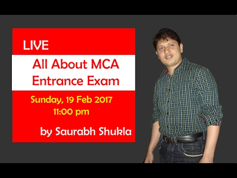 All about MCA entrance exam | LIVE Seminar