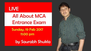 All about MCA entrance exam | LIVE Seminar