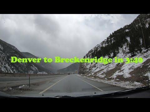 Time Lapse - Denver To Breckenridge in under 4 minutes