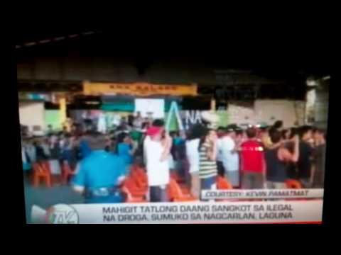 Mahigit tallong daan sangkot sa iligal na droga sumuko sa Nagcarlan Laguna.
