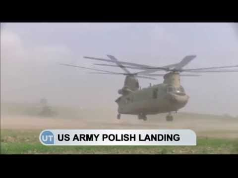 US Helicopters Land in Poland: Six US army helicopters make emergency landing