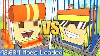 Socksfor1 VS Blaza SECURITY Base Battle on the Largest Minecraft Modpack