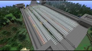 Minecraft  Time Lapse Train Station