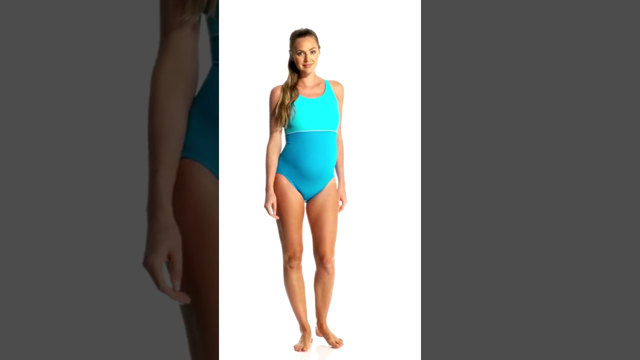 5d815471a9 EQ Swimwear Harmony Maternity Splice One Piece | SwimOutlet.com ...