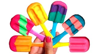 play doh ice creams playdough popsicles rainbow play doh scoops n treats play food videos