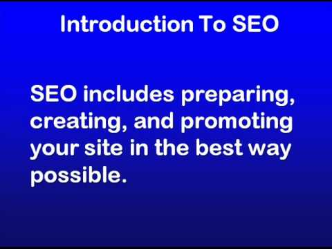 SEO Education 101 - Introduction to SEO