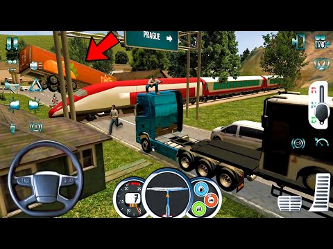 Euro Truck Driver 2018 #55 Railway Accident! Truck Games Android Gameplay