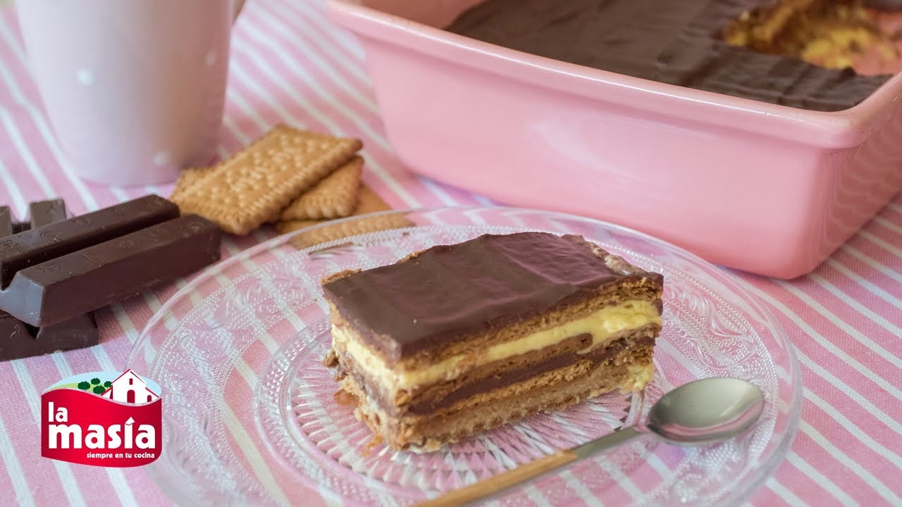 Tarta de galletas flan y chocolate youtube - Recetas nestle postres chocolate para fundir ...