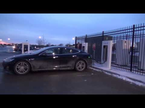 Tesla Motors Model S / X: Supercharger Travel To Madison, WI