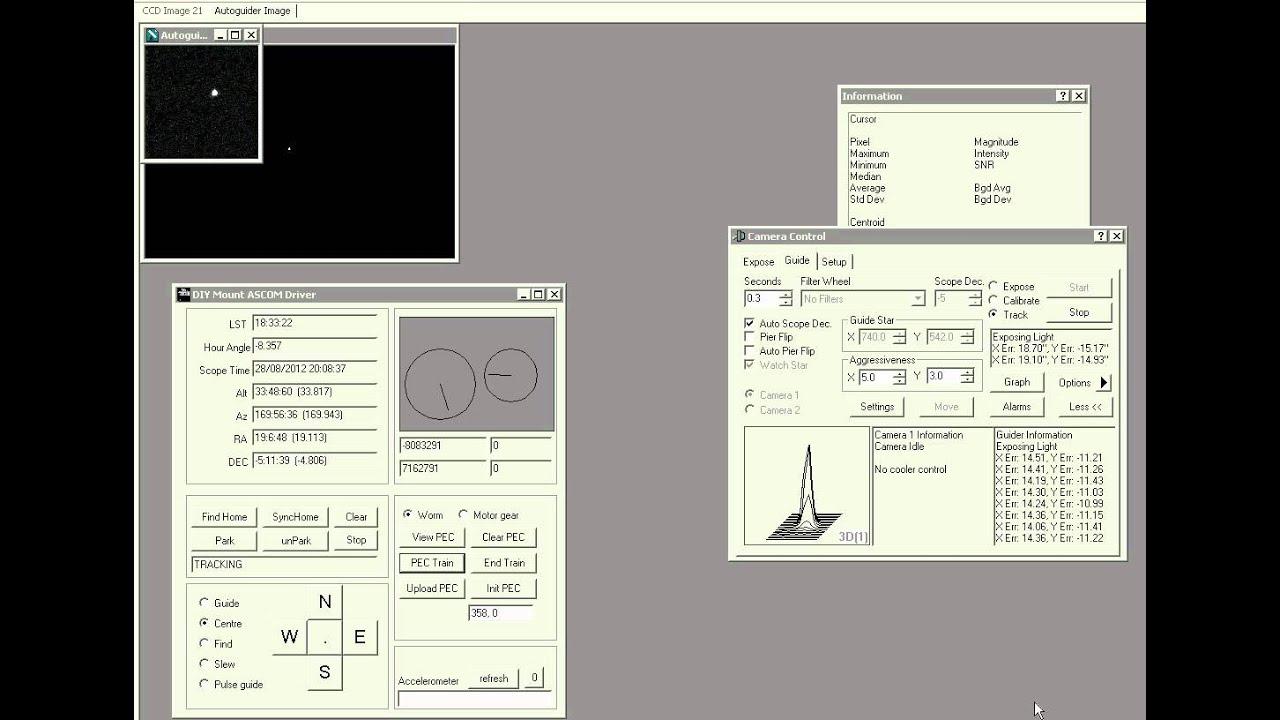 Arduino telescope control: Recording periodic error