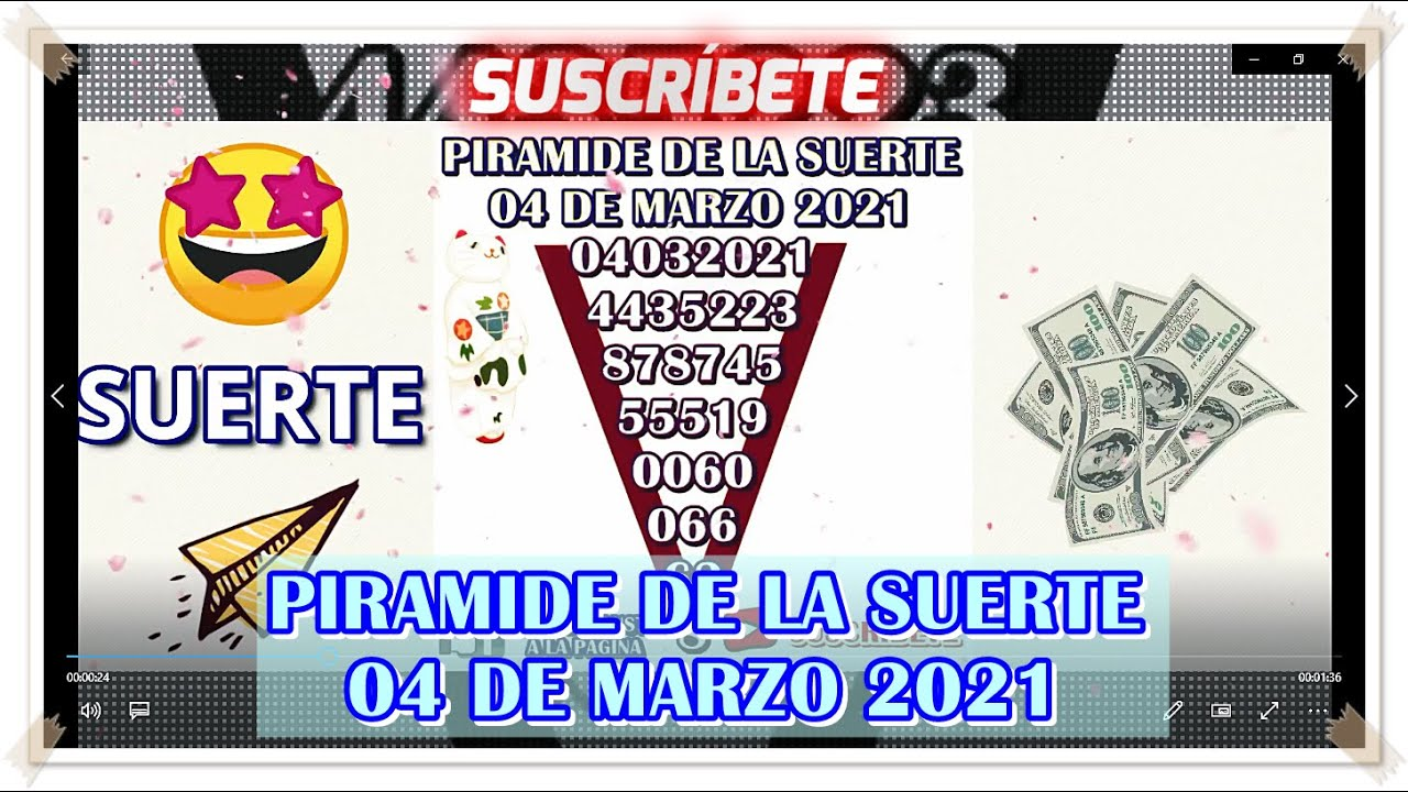 Pirámide De La Suerte Para Hoy 04 de Marzo 2021