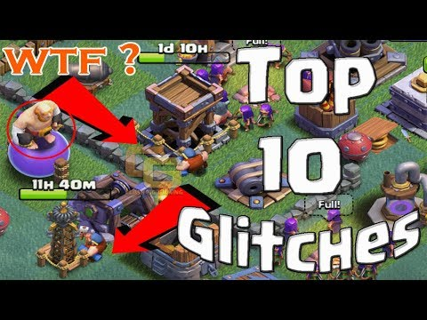 Top 10 Glitches in Builder Hall - Clash of Clans Glitches, Hacks, Bugs & More!