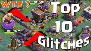 Top 10 Glitches in Builder Hall - Clash of Clans Glitches, Hacks, Bugs u0026 More!