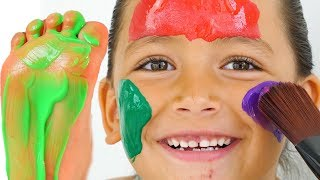 Learn Colors with Body Paint and Zozo! Super Cute Kids video