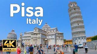Pisa, Italy Walking Tour (4k ultra hd 60fps)
