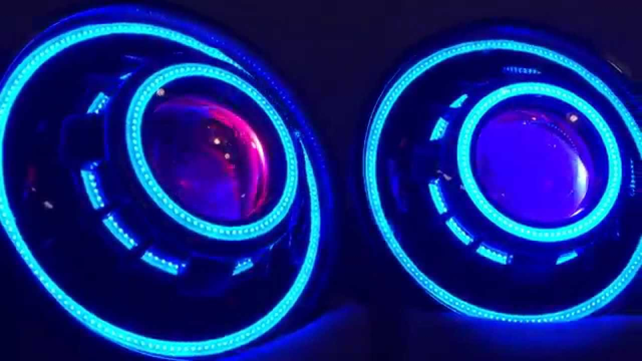 Jeep Wrangler Jk Tj Projector Headlights Hid Angel Eyes