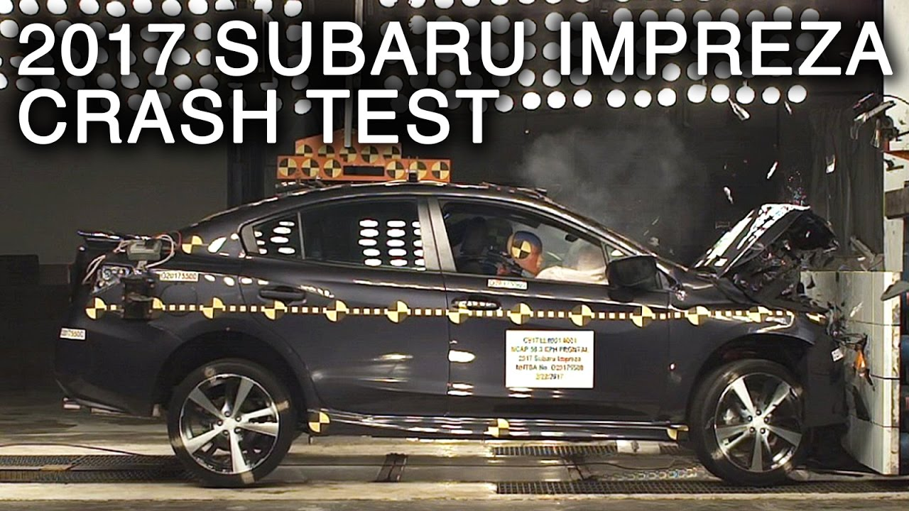 2017 subaru impreza frontal crash test youtube. Black Bedroom Furniture Sets. Home Design Ideas