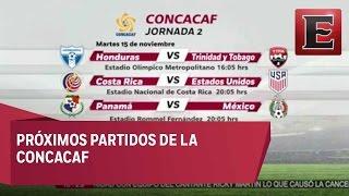 Próximos partidos de la Concacaf
