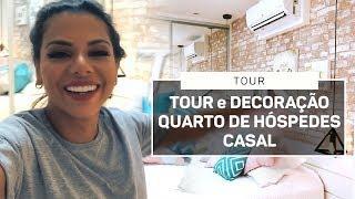 TOUR e DECORAÇÃO QUARTO BEGE AZUL TIFANY E ROSA BEBÊ HÓSPEDES CASAL