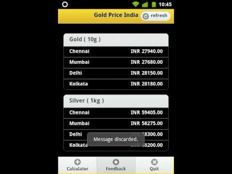 Gold Price India - Android Application