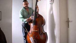 upright bass replacing tailpiece with dyneema strings