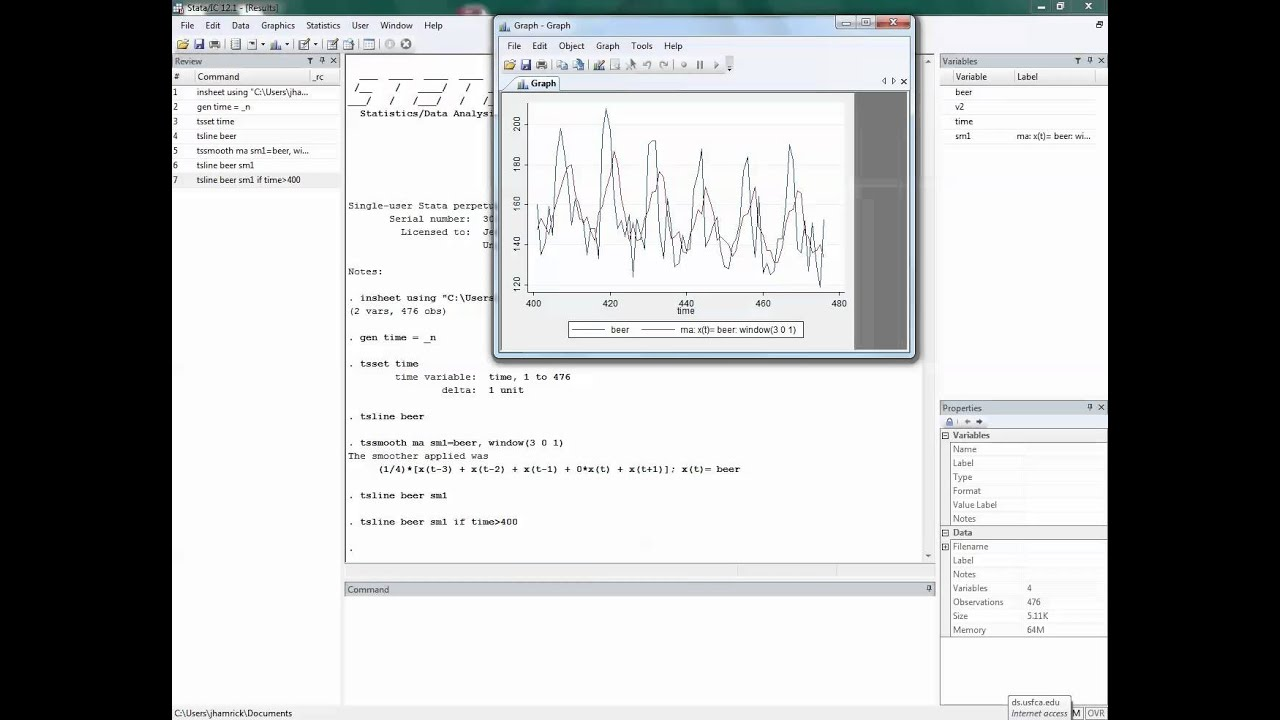 Constructing Moving Average Smoothers in Stata